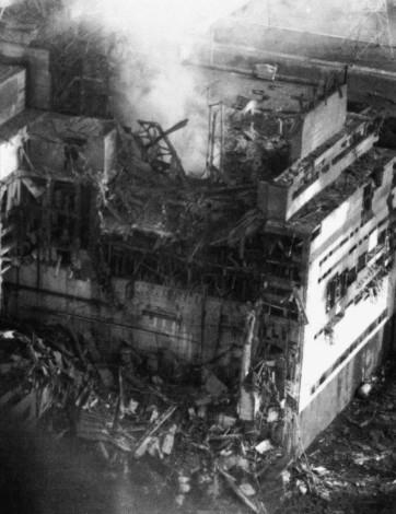 Reaktor von Block 4 (Tschernobyl)